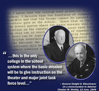 Admiral Nimitz and General Eisenhower